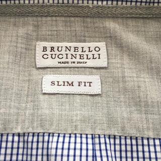 ブルネロクチネリ(BRUNELLO CUCINELLI)のブルネロクチネリ ボタンダウンシャツ美品(シャツ)