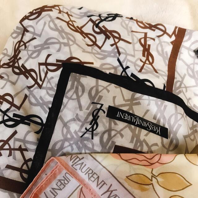 Saint Laurent(サンローラン)の【新品未使用】イヴ・サンローラン ハンカチ2枚セット レディースのファッション小物(ハンカチ)の商品写真