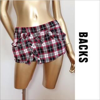 BACKS - BACKS チェック柄 ショートパンツ スカパン♡ギルフィー スパイラルガール