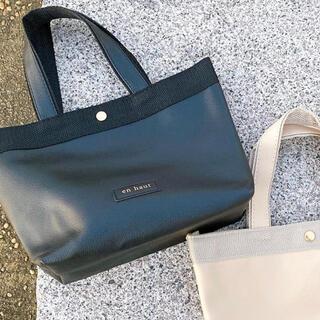 スリーコインズ(3COINS)の新品タグ付き即購入可能トートバッグロゴトートバッグ黒(トートバッグ)