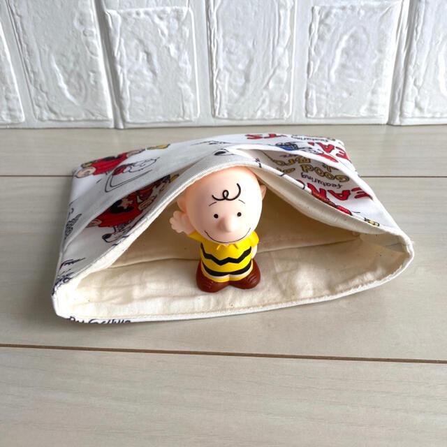 ミニバッグ用 バッグインバッグ ハンドメイド SNOOPY no.5 ハンドメイドのファッション小物(バッグ)の商品写真