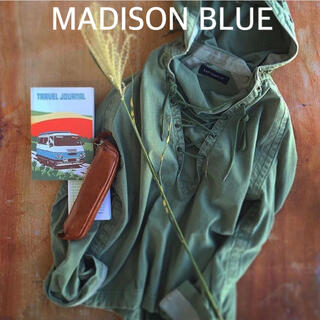MADISONBLUE - 【MADISONBLUE マディソンブルー】バックサテンフーディー/カーキ/01