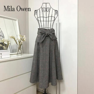 Mila Owen - 【美品】 Mila Owen ミラオーウェン チェックスカート