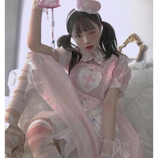 To Alice - ゆめかわいい 病みかわいい ナース風ワンピース ミニハット付き