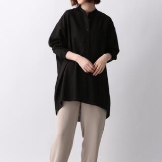 アパートバイローリーズ(apart by lowrys)のバンドカラーシャツ 黒(シャツ/ブラウス(長袖/七分))