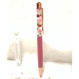 【値下げしました】ハーバリウムクリスタルボールペン ピンク(その他)