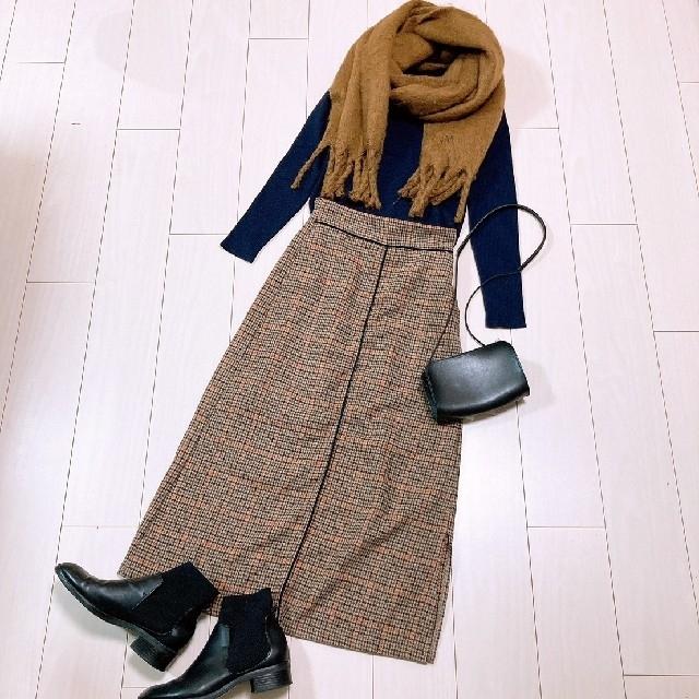 Mila Owen(ミラオーウェン)の大人可愛いボリュームストールコーデ♡ミラオーウェンニットチェックスカート レディースのトップス(ニット/セーター)の商品写真