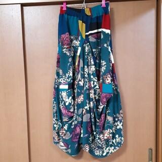antiqua - アンティカ 花柄×幾何学柄 ロングスカート