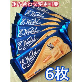 高級 ウェデル ヴェデル キャラメル ホワイト チョコレート 菓子 6枚