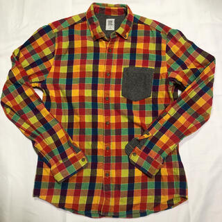 グラニフ(Design Tshirts Store graniph)のグラニフ チェックシャツ メンズ Mサイズ(シャツ)