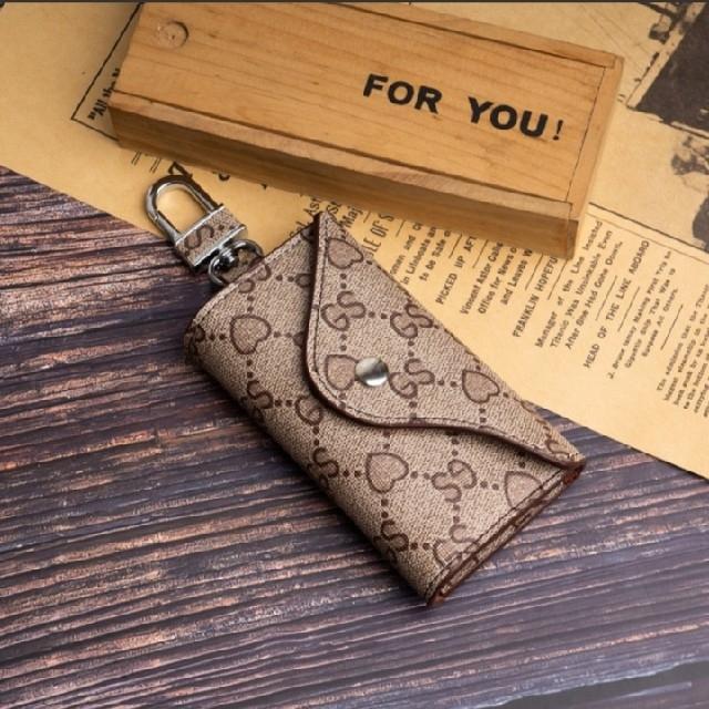 カード入れ付きキーケース/キーポーチ アプリコット柄 レディースのファッション小物(キーケース)の商品写真