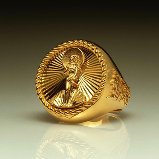 STUSSY - Lサイズ Stussy 40th Anniversary Ring Gold