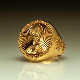 ステューシー(STUSSY)のLサイズ Stussy 40th Anniversary Ring Gold(リング(指輪))