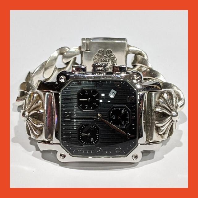 Chrome Hearts(クロムハーツ)のHamilton★カスタムウォッチ★シルバー925★クロムハーツ リメイク品 メンズのアクセサリー(ブレスレット)の商品写真