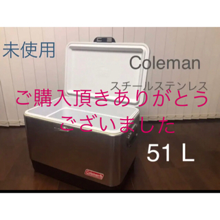 Coleman - 美品【コールマン】スチールベルト クーラーボックス 51L スチールステンレス