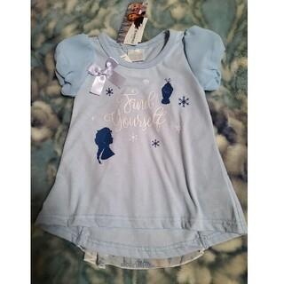 Disney - 新品タグ付き アナ雪 パフ袖 Tシャツ 水色 90