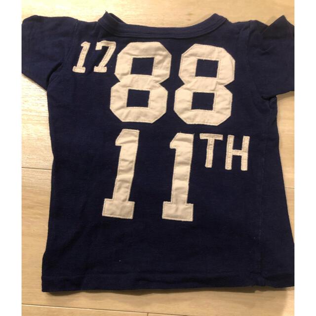 DENIM DUNGAREE(デニムダンガリー)のデニムアンドダンガリー Tシャツパンツセット 90 キッズ/ベビー/マタニティのキッズ服男の子用(90cm~)(Tシャツ/カットソー)の商品写真