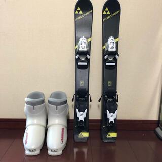 フィッシャー(Fisher)のスキー板 70センチ FISHCER RC-4 RACE JR+ブーツ16センチ(板)