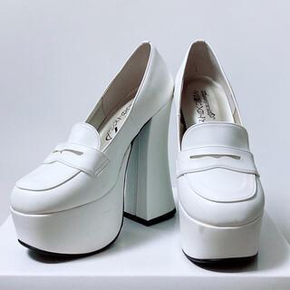 【アシストのくつ屋さん】コスプレ用 厚底ローファー 白(靴/ブーツ)