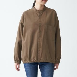 MUJI (無印良品) - コットンリヨセル スタンドカラーシャツ レディース