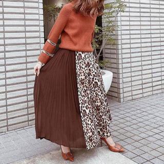 eimy istoire - eimy istoireレオパードプリーツコンビスカート