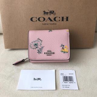 COACH - 新品★COACH(コーチ)2020年春夏新作 三つ折り財布 フラワー