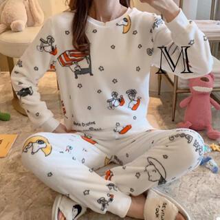 ふわもこパジャマ スヌーピー白総柄 Mサイズ