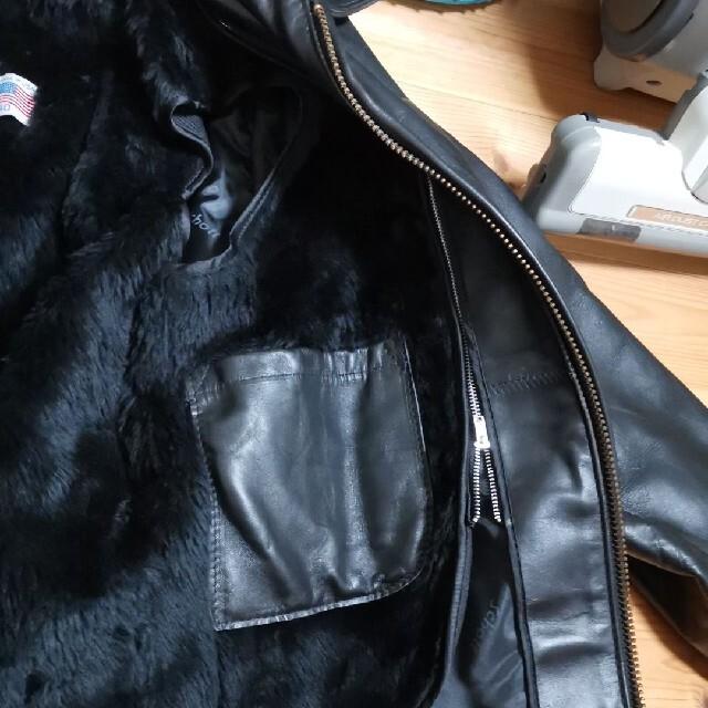 schott(ショット)の【早い者勝ち値引き美品】ショット レザーライダースジャケット ブラックL メンズのジャケット/アウター(ライダースジャケット)の商品写真