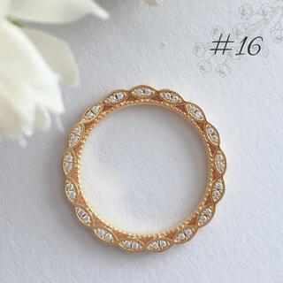 3面 フルエタニティ レース リング 16号 yg(リング(指輪))