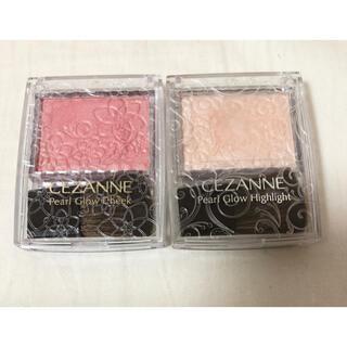 CEZANNE(セザンヌ化粧品) - セザンヌ パールグロウチーク P1 & パールグロウハイライト01