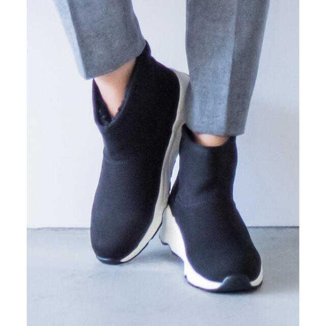 BARNYARDSTORM(バンヤードストーム)の【新品】BARNYARDSTORM / 撥水スニーカーブーツ ブラックL レディースの靴/シューズ(スニーカー)の商品写真