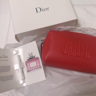 Dior - ディオール ポーチ 赤 ノベルティ ミスディオール付き
