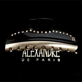 アレクサンドルドゥパリ(Alexandre de Paris)のアレクサンドルドゥパリ クリップ ヴァンドーム ブラック スワロ 11(バレッタ/ヘアクリップ)