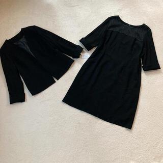 新品 ワンピーススーツ黒 17号 卒業式入学式 大きいサイズ