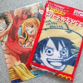 コカコーラ(コカ・コーラ)のONE PIECE ☆ フリースブランケット+ポスター セット(キャラクターグッズ)