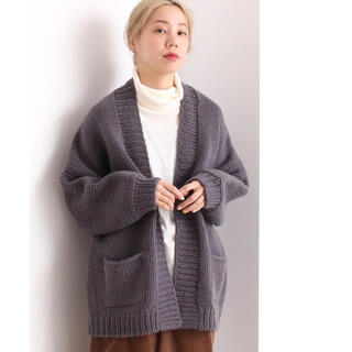 note et silence - 2018AW rukkilill HAND KNIT ロングカーディガン