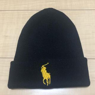 ポロラルフローレン(POLO RALPH LAUREN)のラルフローレン 黒色ニット帽(ニット帽/ビーニー)