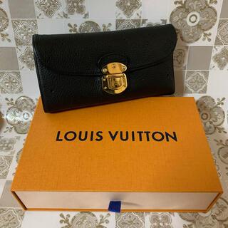 LOUIS VUITTON - 美品! LOUIS VUITTON ルイヴィトン マヒナ ブラック 長財布