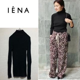 IENA - 【美品】IENA イエナ 定番 ハイゲージ ニット リブ ハイネック
