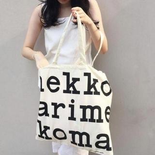 marimekko - 新品 ☆【マリメッコ】☆トートバッグ ブラックロゴ エコバッグ