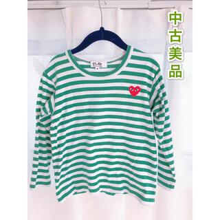 コムデギャルソン(COMME des GARCONS)のコムデギャルソンプレイ キッズ四歳 ロゴエンブロイダリー Tシャツ(Tシャツ/カットソー)