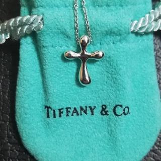 Tiffany & Co. - 値下げティファニー クロスネックレス 新品仕上げ 保存袋、箱あり 送料無料