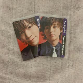 キスマイフットツー(Kis-My-Ft2)のKis-My-Ft2 カレンダーカード2枚セット(アイドルグッズ)
