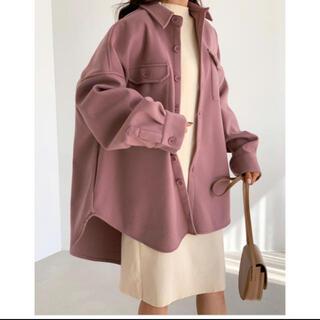 dholic - ウール混シャツジャケット ピンク