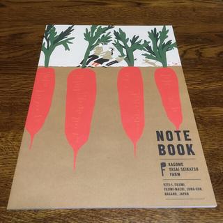 カゴメ(KAGOME)のにんじん 野菜 かわいい ノート(ノート/メモ帳/ふせん)