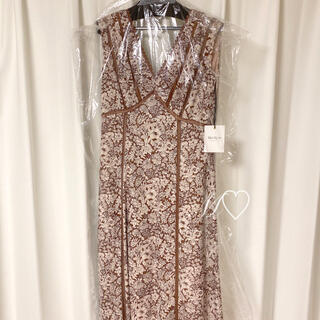 snidel - Herlipto Lace Trimmed Floral Dress フローラル