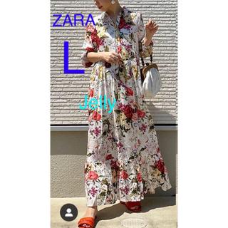 ザラ(ZARA)の【タグ付き新品】ザラ 花柄 ワンピース ロングワンピース(ロングワンピース/マキシワンピース)