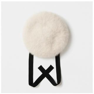 ネストローブ(nest Robe)のmature ha. マチュアーハ beret blue fox ニット帽(ニット帽/ビーニー)