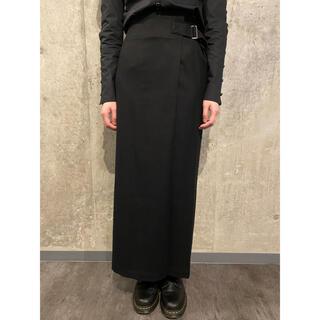 ヨウジヤマモト(Yohji Yamamoto)の美品 ヨウジヤマモト ウール ベルトデザインロングスカート #[755](ロングスカート)