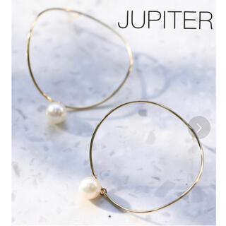 agete - ■現行品■【JUPITER】K10 curvy circle pearlピアス